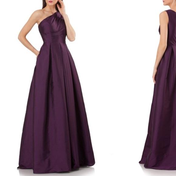 Carmen Marc Valvo Dresses | Plum Colored Dress | Poshmark